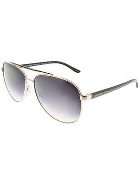 Michael Kors Women's Gradient Hvar MK5007-109936-59 Rose-Gold Aviator Sunglasses