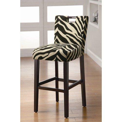 Wildon Home Holiday Lakes Barstool in Zebra Print (Set of 2)