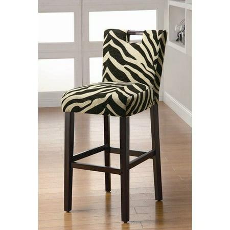 Wildon home holiday lakes barstool in zebra print set of for Zebra kitchen set