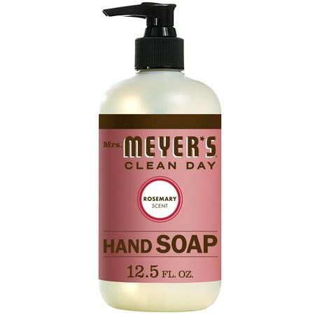(3 Pack) Mrs. Meyer's Clean Day Liquid Hand Soap, Rosemary, 12.5 Oz - Liquid Soap Rosemary Mint