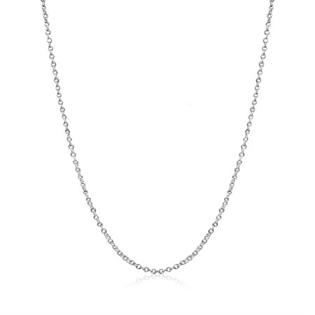 18k Italian Necklace (Cable Chain Necklace Sterling Silver Italian 1.3mm Nickel Free 18)