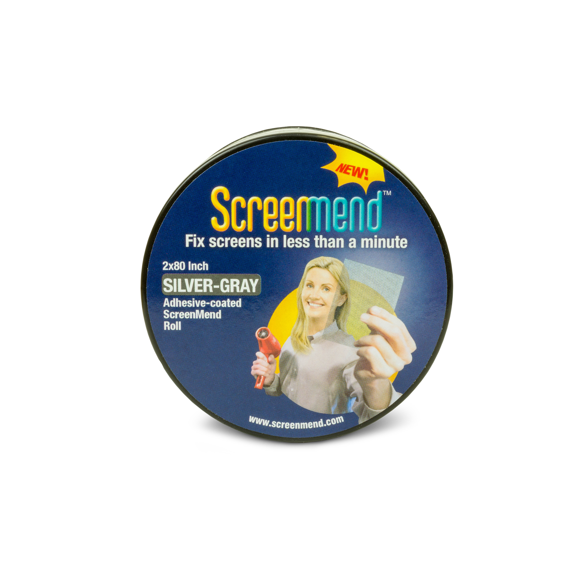 Screenmend Door and Window Screen Repair Roll, Charcoal, 2x80""
