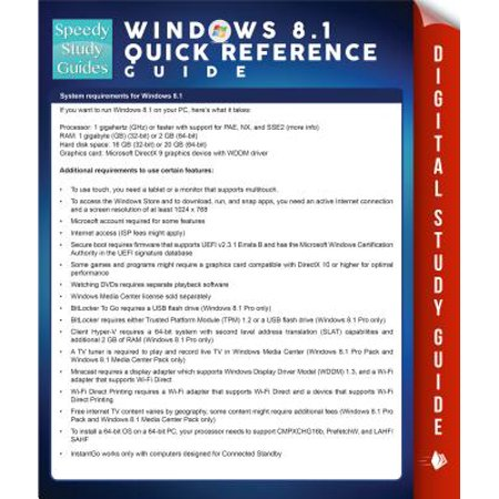 Windows 8 1 Quick Reference Guide (Speedy Study Guides) - eBook