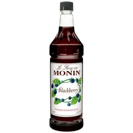 Monin, Blackberry Flavored Syrup, 1 Liter (4