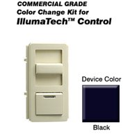 Leviton IPQFK-E Color Change Kit IllumaTech Decora Style Quiet Fan - Black