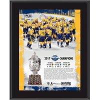 "Nashville Predators 10.5"" x 13"" 2017 NHL Western Conference Champions Sublimated Plaque"