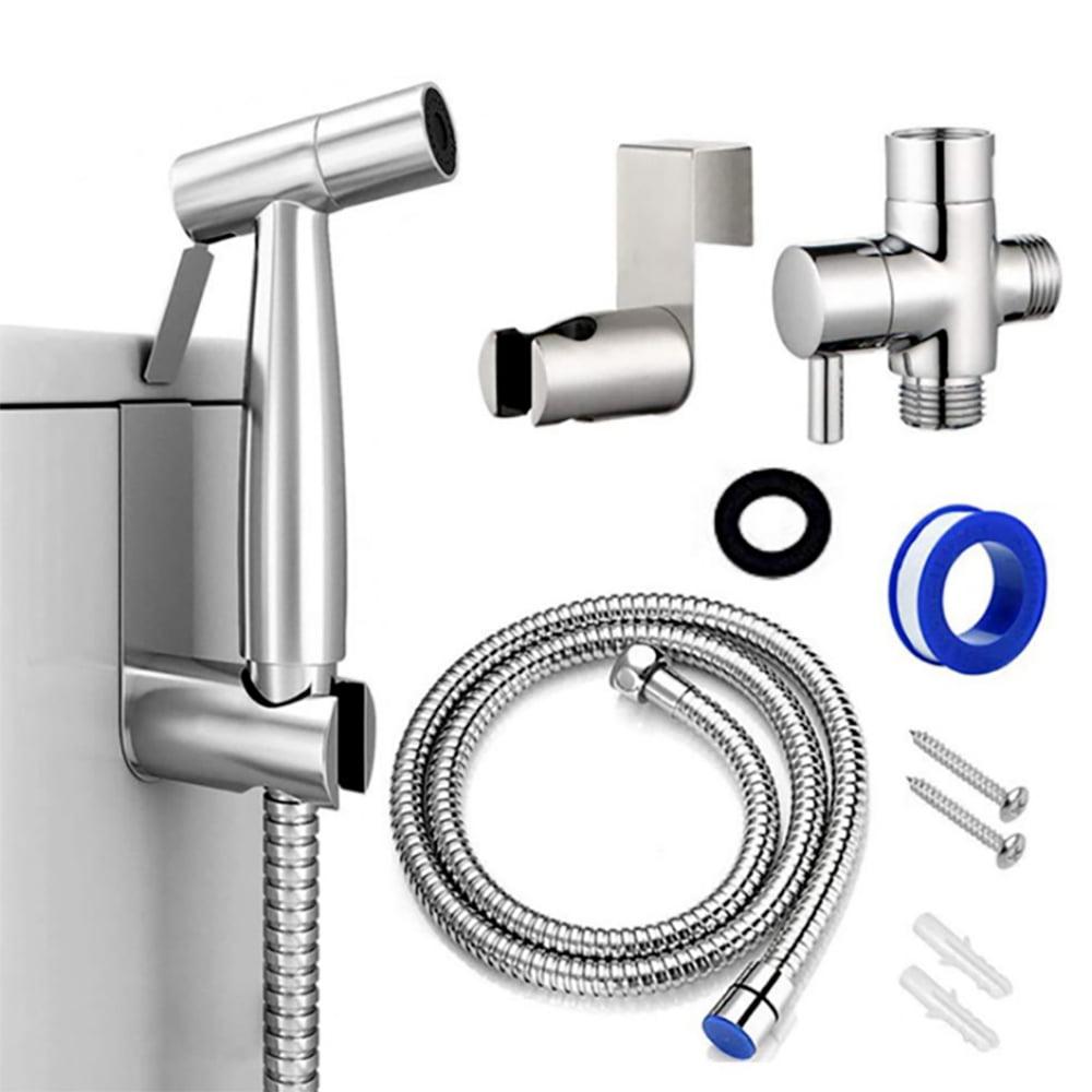 Toilet Shattaf Sprayer Bider Set Shower Head Sprinkler Bathroom Handheld Parts