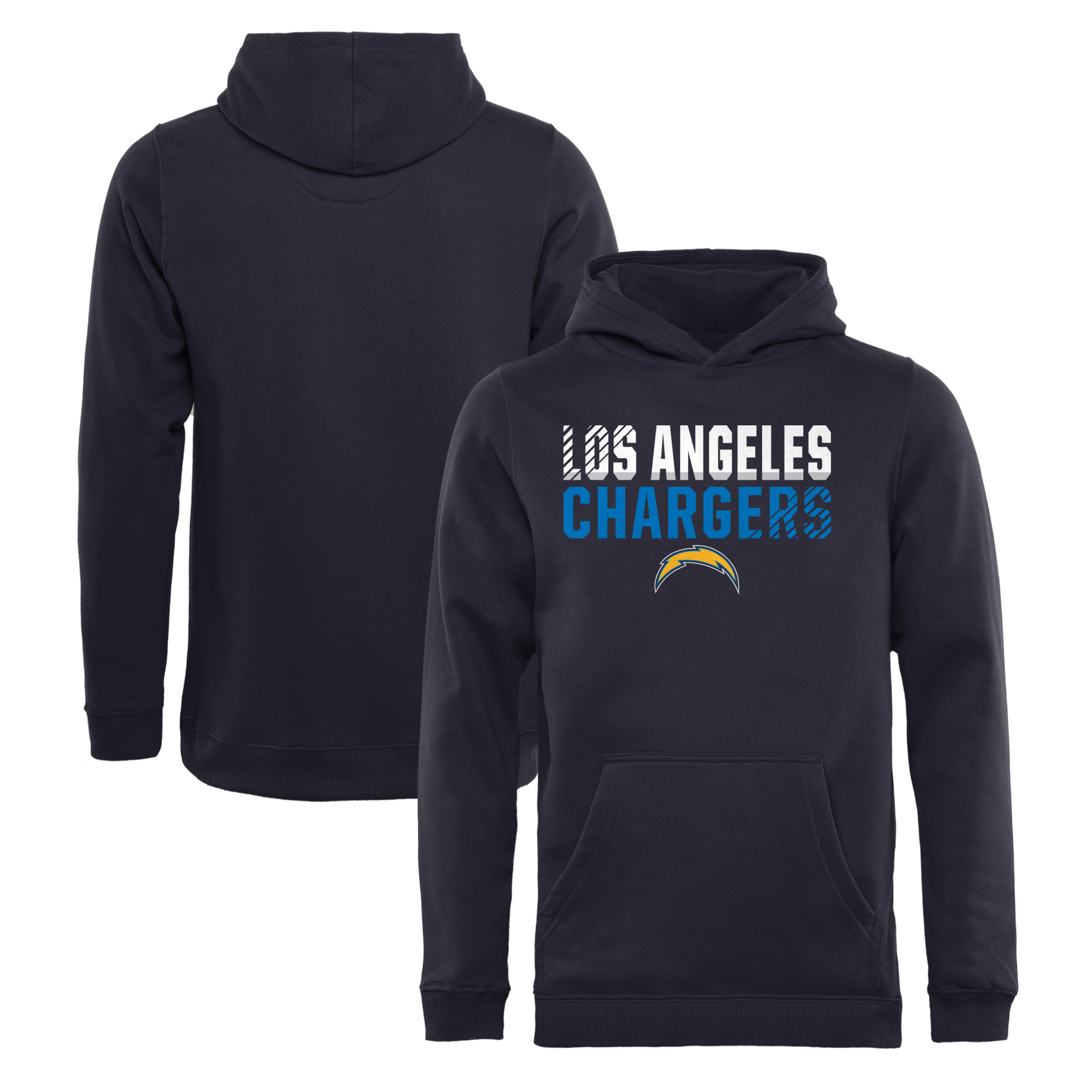 Los Angeles Chargers NFL Pro Line by Fanatics Branded Youth Iconic Collection Fade Out Pullover Hoodie - Navy
