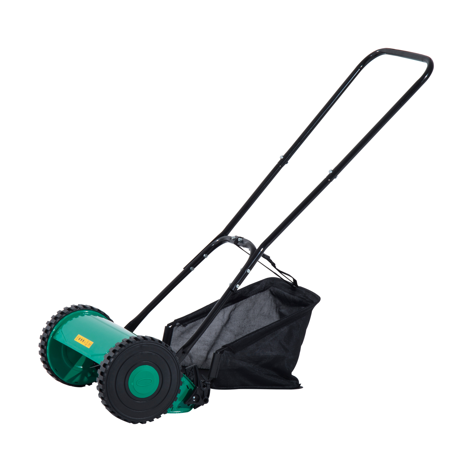 """Aosom Outsunny 12"""" 5 Blade Push Lawn Mower with Grass Cat..."""