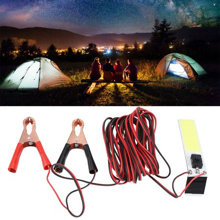 FAGINEY Emergency Light,12V Outdoor COB Emergency Light White LED Slim Chip Lamp for Tent Camping Fishing, Outdoor Emergency Light