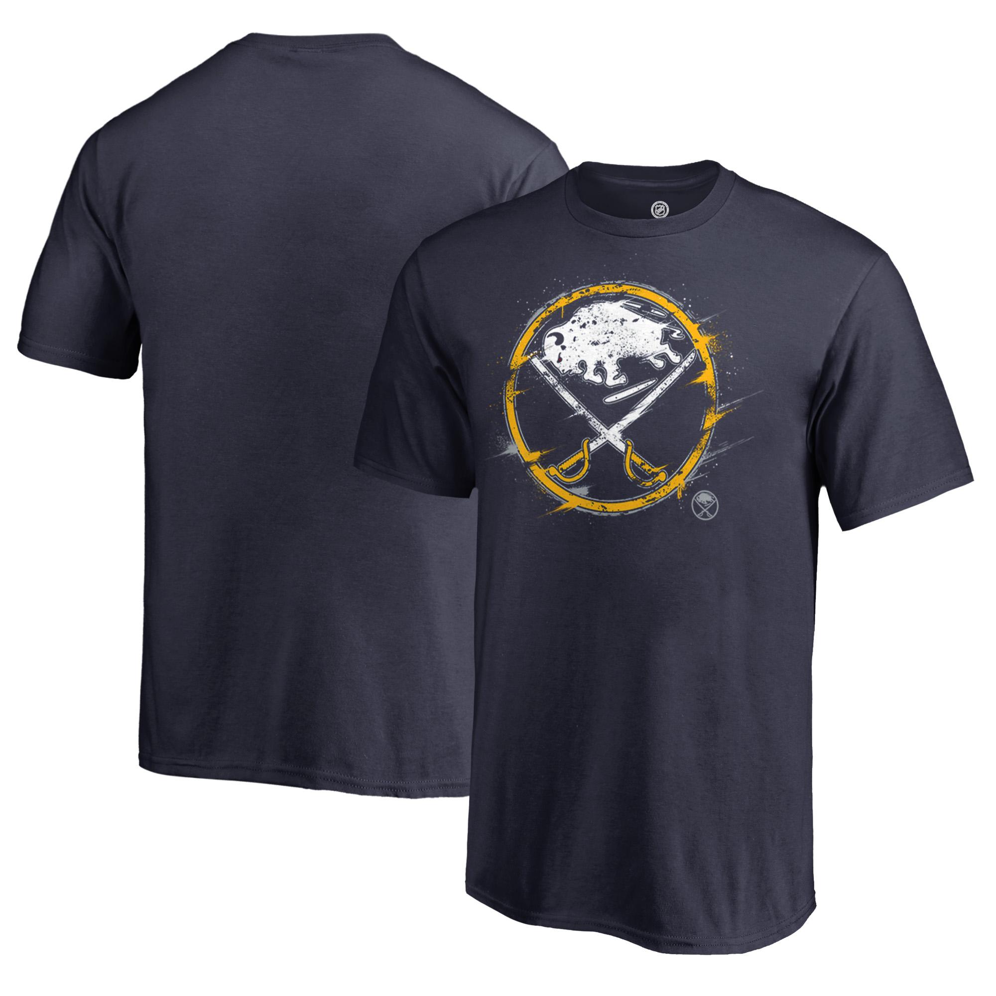 Buffalo Sabres Fanatics Branded Youth Splatter Logo T-Shirt - Navy
