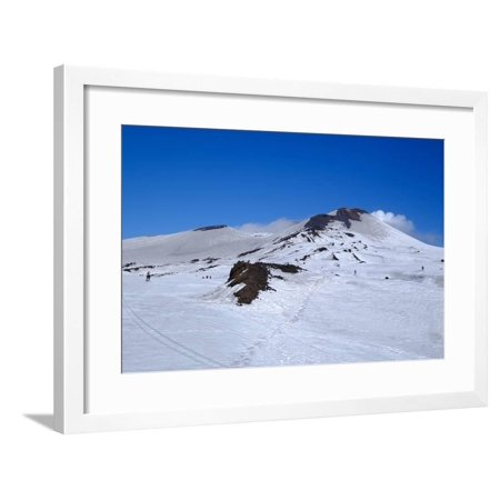 Summit craters of Mount Etna, UNESCO World Heritage Site, Catania, Sicily, Italy, Europe Framed Print Wall Art By Carlo - Style Monte Carlo Collection
