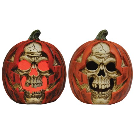 Skull in Pumpkin Lightup Halloween Decoration - Halloween 2 Pumpkin Skull