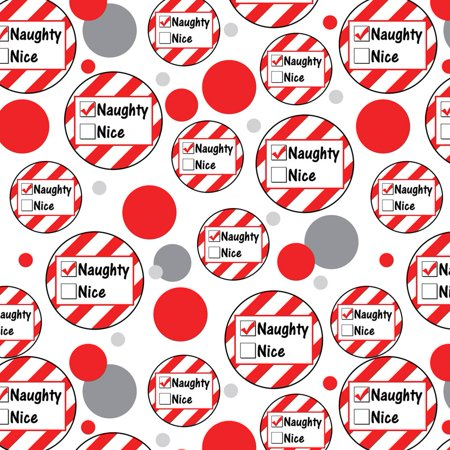 Naughty Not Nice Christmas Funny Premium Gift Wrap Wrapping Paper Roll Pattern