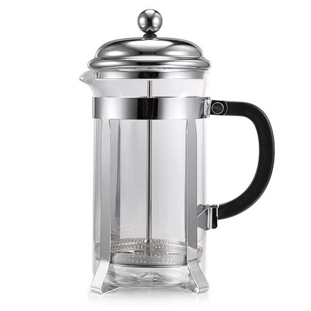 Homdox French Style Press Coffee Tea Maker 1000ml/ 8 Cups Coffess Press Pot Stainless Steel Glass Material