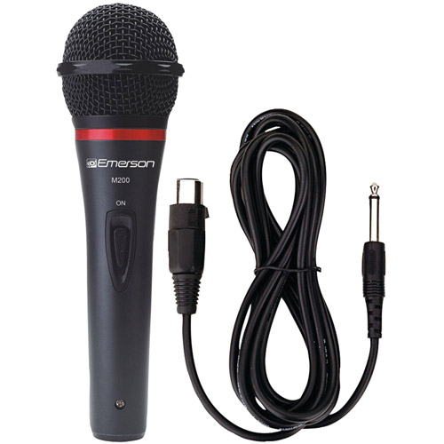 Emerson M200 Professional Microphone with Durable Metal Case and Grill