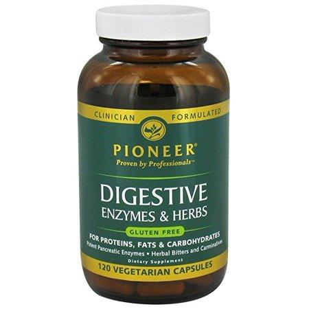 Pioneer Nutriti - enzymes digestives, Veg Cap (Btl-verre) 120ct