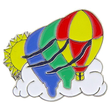 Hot Air Balloons in Clouds Pin 1