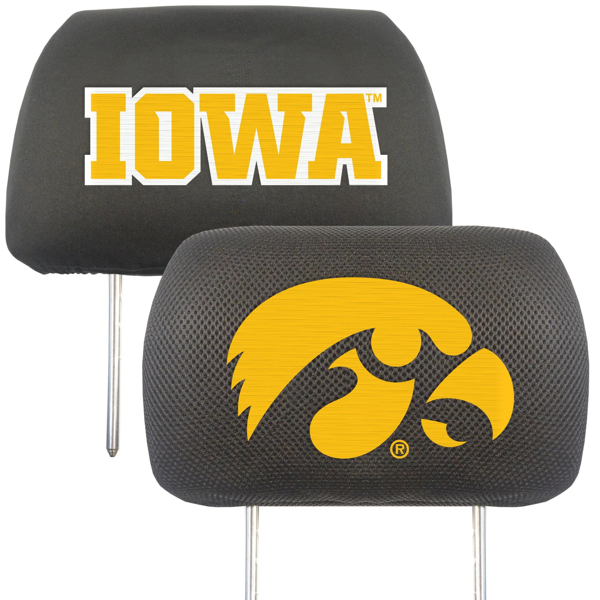 NCAA University of Iowa Hawkeyes Head Rest Cover Automotive Accessory