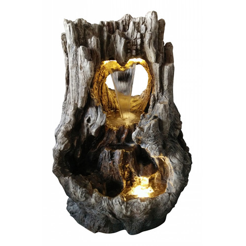 Rainforest Fountain with 6 Yellow LED Lights by Alpine Corporation