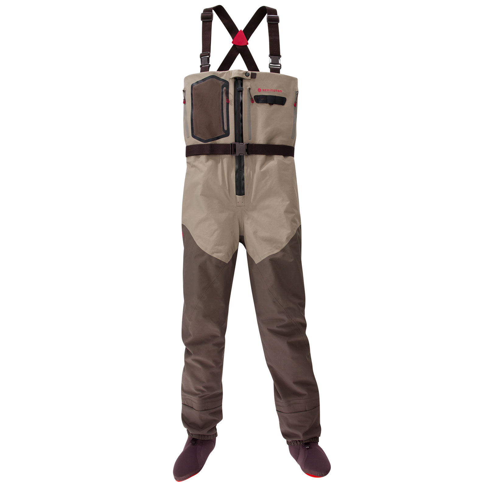 Redington Men's Sonic-Pro HDZ Stockingfoot Fishing Waders - Brown (L)