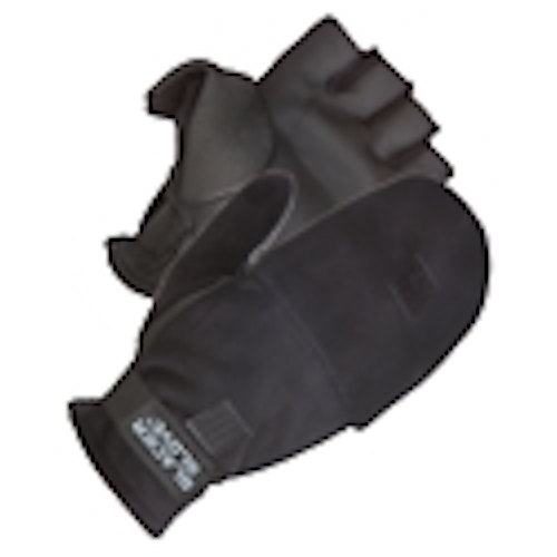 Glacier Glove Alaska River X-Large Flip Mitt Glove, Black by Glacier Glove