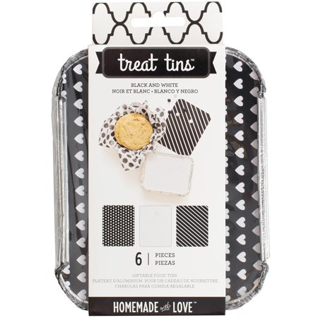 Homemade With Love Food Craft Tins Small 3/Pkg - Black And White - Homemade Halloween Crafts
