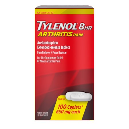 Tylenol 8 Hour Arthritis Pain Tablets with Acetaminophen, 100