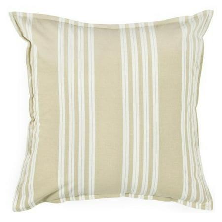 Rizzy Home Printed Neutral Stripe Decorative Cotton Throw Pillow - Walmart.com