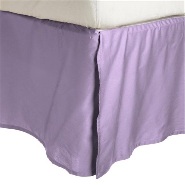 Luxor Treasures-Executive 3000 MF3000XLBS 2LLI Executive 3000 Series Twin XL Bed Skirt, 2 Line Embroidery - Lilac