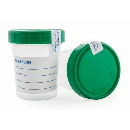 - Specimen Container, Screw Cap, 120 mL (4 oz.), Sterile, Case of 100