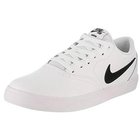 f784c9dec063 Nike - Nike Sb Check Solar Mens White Leather Sneakers Lace Up Skate Shoes  - Walmart.com