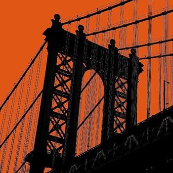 Orange Manhattan Poster Print by Erin Clark (12 x 12)