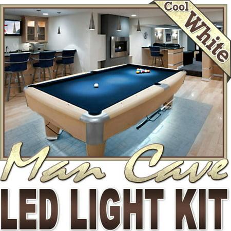 Biltek 3.3' ft Cool White Bar Liquor Cabinet Wine Cellar LED Backlight Accent On/Off Switch Kit 110V Plug - Sport Memorabilia Bar Theatre TV Liquor Cabinet Wine Cellar Dart Board -