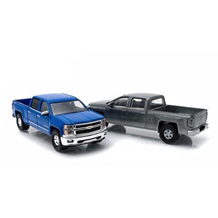 Greenlight 29827 First Cut 2014 Chevrolet Silverado Pickup Trucks Hobby Only Exclusive 2 Cars Set 1-64 Diecast (1993 Chevrolet S10 Truck)