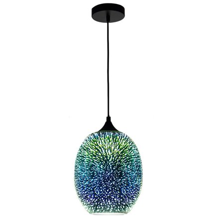 Moaere Creativity 3D Glass Fireworks LED Ceiling Lights Modern Chandelier  Glass Pendant Lamp Fixture for Kitchen Hallway Bathroom Bar ()