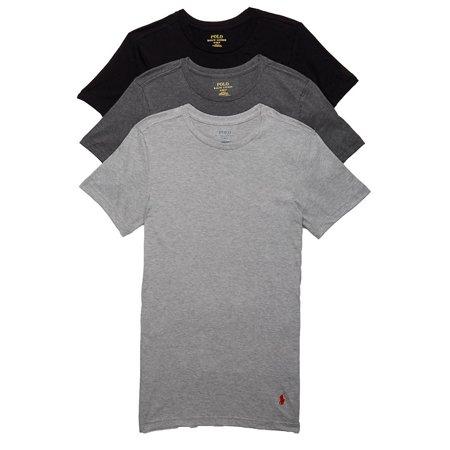Polo Ralph Lauren Mens Slim Fit Cotton T-Shirt 3-Pack Style-RSCNP3 ()