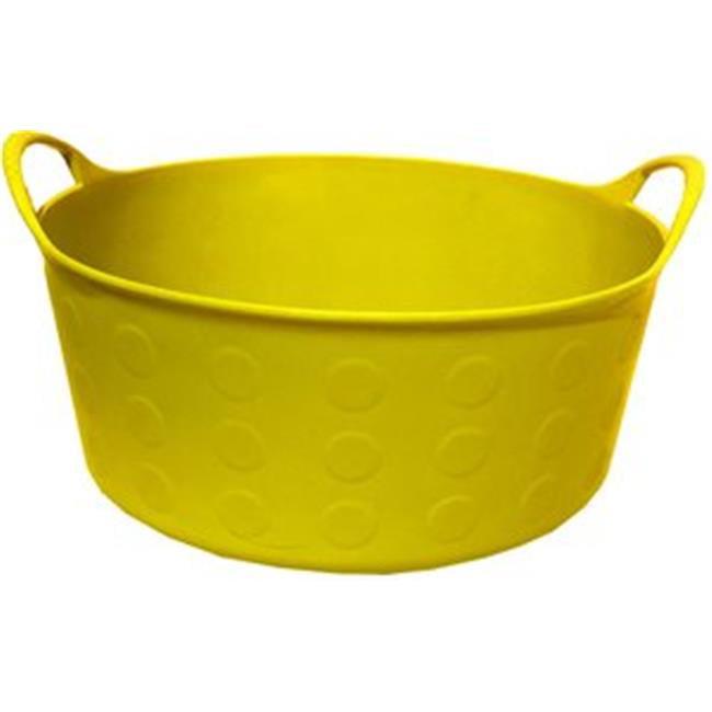Tuff Stuff Products S4-YL 4 gal Tuff Flex Tub - Yellow