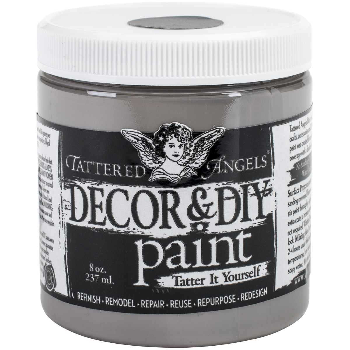 Decor & DIY Paint Cup 8oz-Silver
