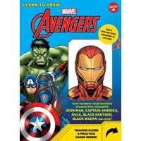 Learn to Draw Marvel Avengers : How to draw your favorite characters, including Iron Man, Captain America, the Hulk, Black Panther, Black Widow, and more!