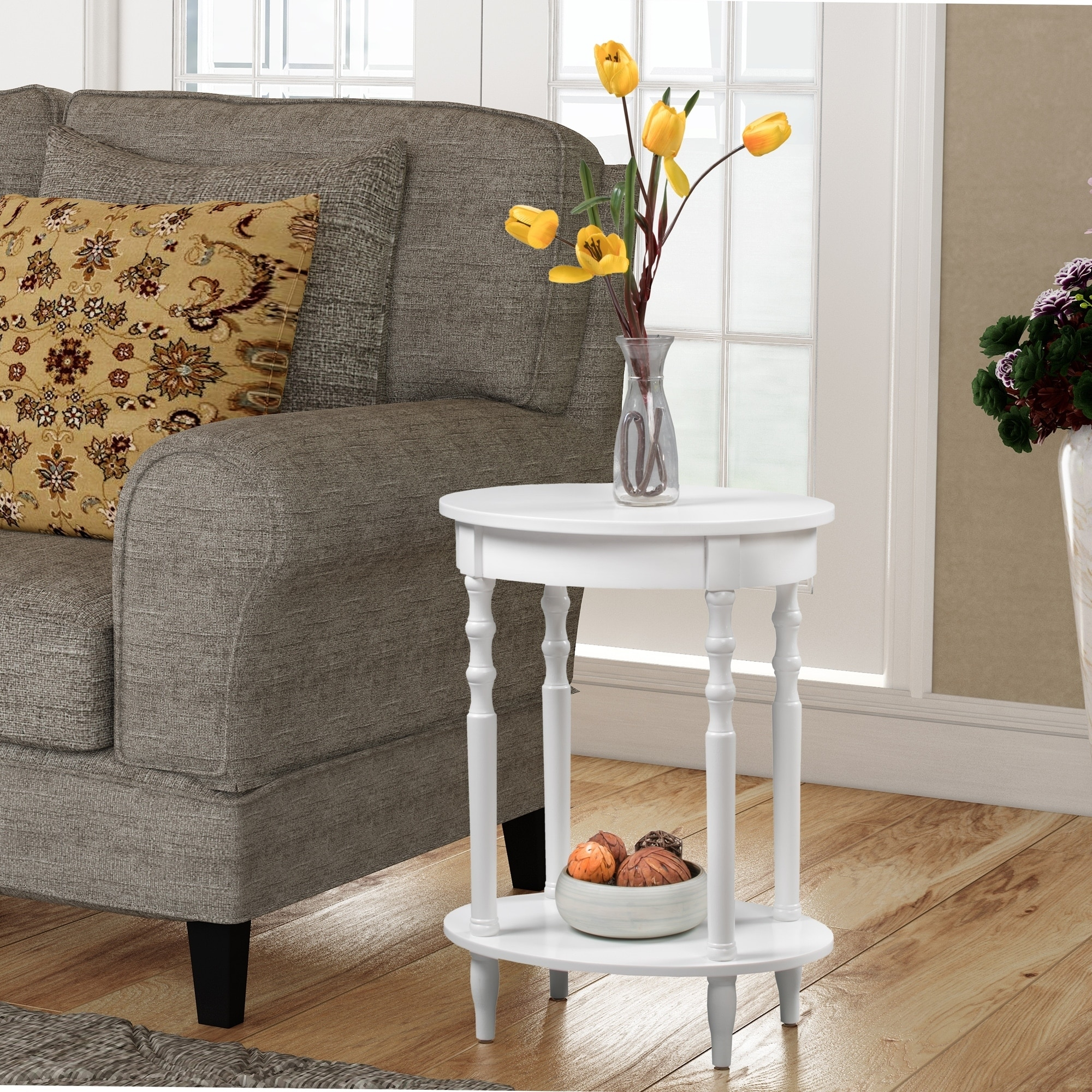 Convenience Concepts Classic Accents Brandi Oval End Table, Multiple Finishes by Convenience Concepts Inc