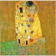 """Oriental Furniture Works of Klimt Canvas Wall Art, The Kiss, 19.75""""W x 19.75""""H"""
