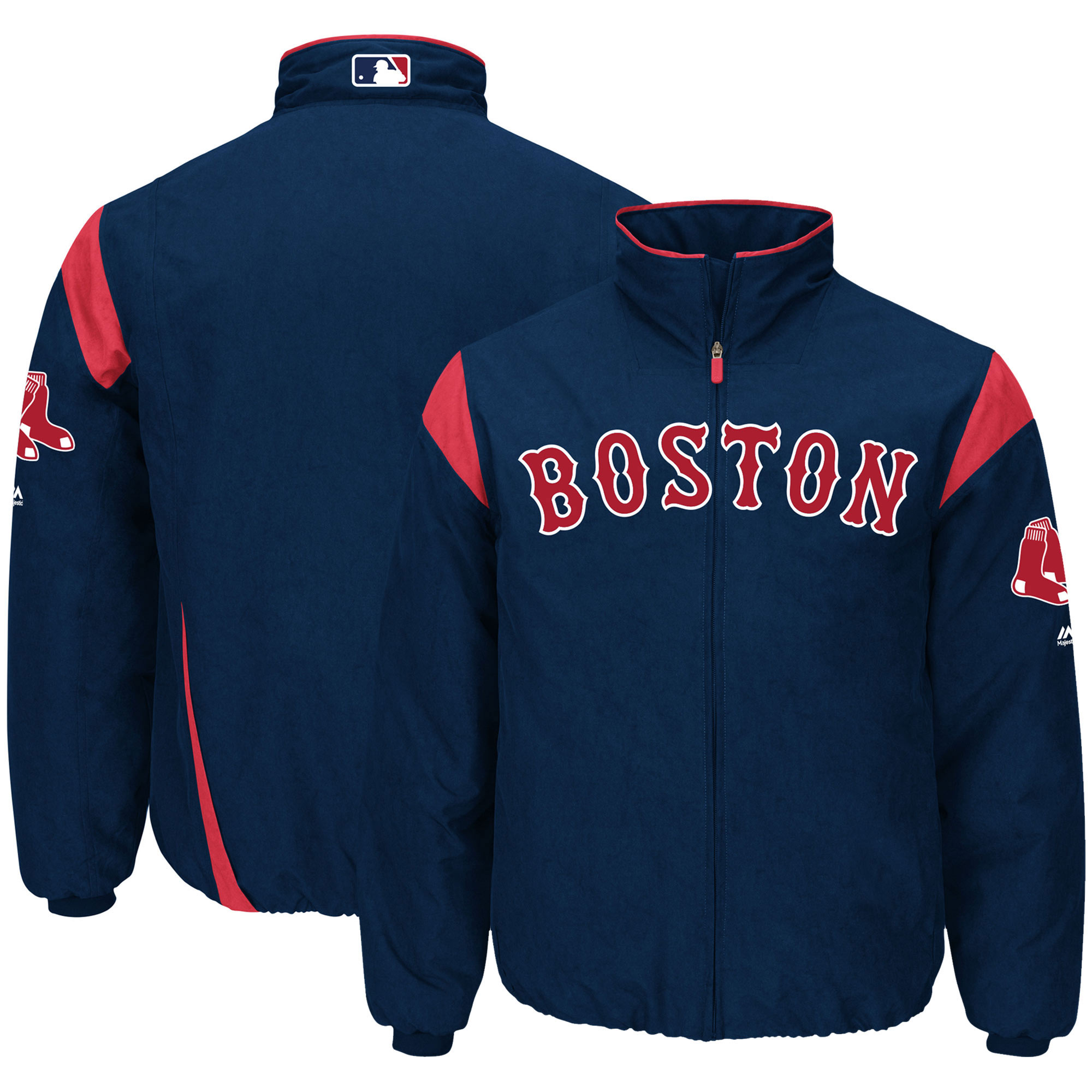 Boston Red Sox Majestic On-Field Therma Base Thermal Full-Zip Jacket - Navy