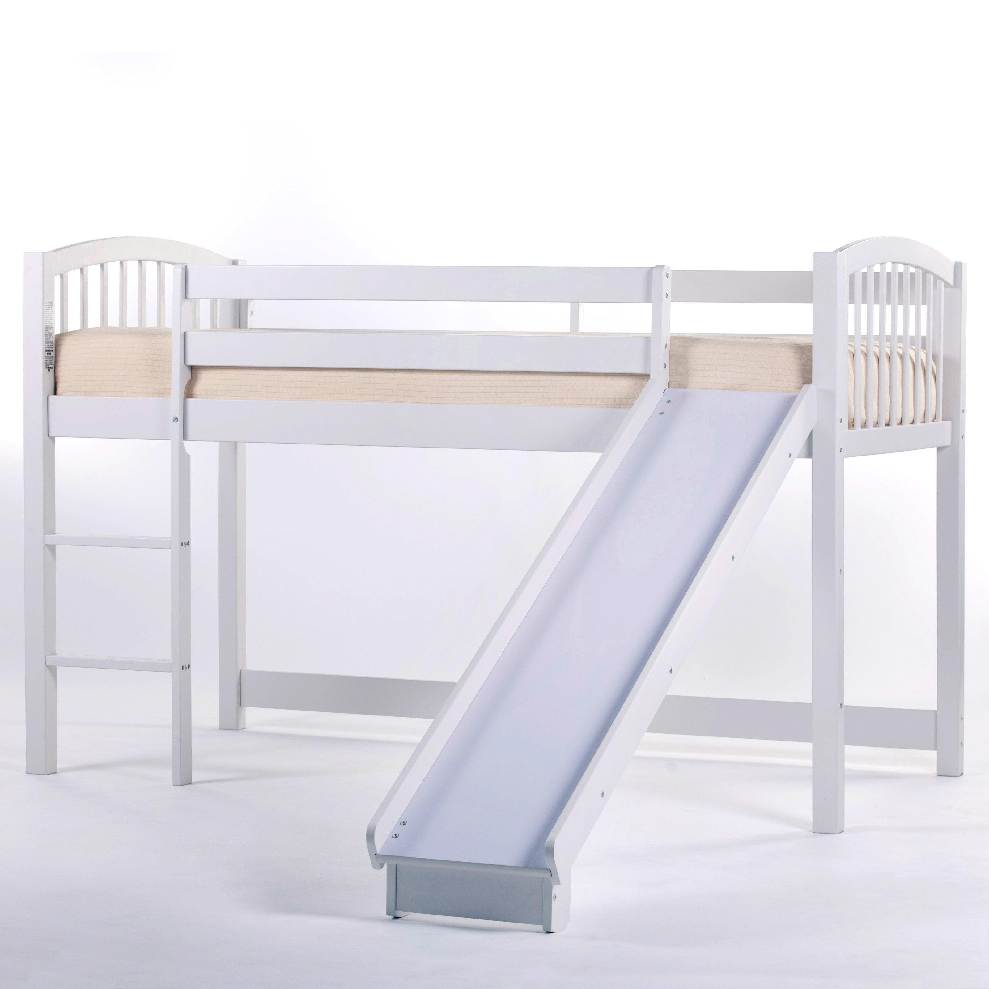 Picture of: Ne Kids Schoolhouse Junior Loft Bed With Slide White Walmart Com Walmart Com