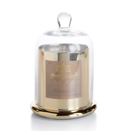 Scented Apothecary Jar (Zodax Apothecary Guild Scented Candle Jar with Glass Dome Gold/Medium)