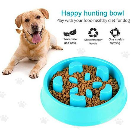 Slow Feeder Dog Bowl Slow Eating Dog Bowl Pet Bloat Stop Dog