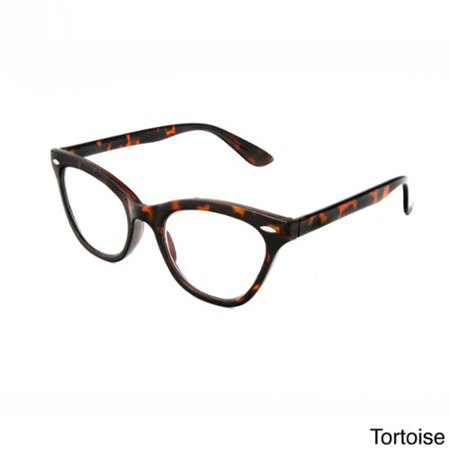 Hot Optix Womens Cat Eye Retro Reading Glasses Tortoise ...