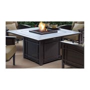 Wood Firepit Table in Blackened Ash