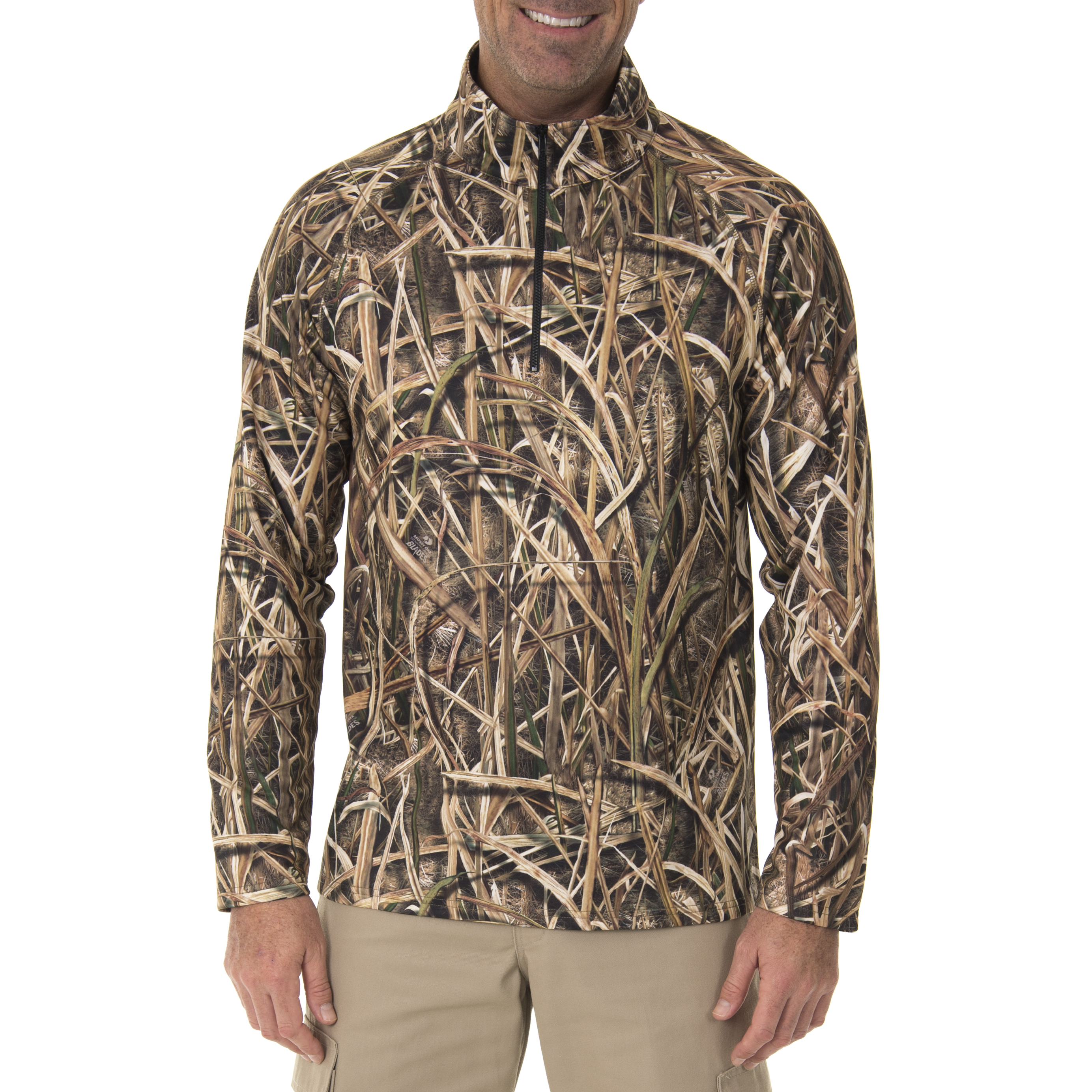 Realtree & Mossy Oak Men's Fleece Performance Camo 1 4 Zip Jacket by INTRADECO