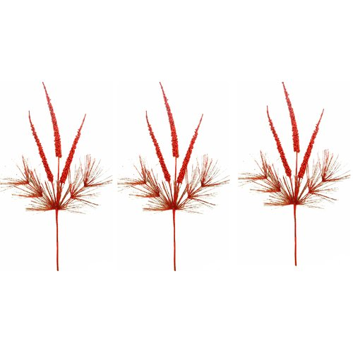 Admired by Nature Glitter Berry Spikes Stem (Set of 3)